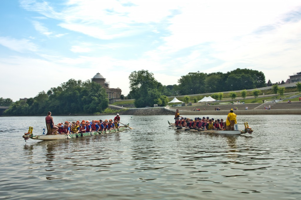 Paddlers Begin the Saturday River Trip from Harding to Wilkes-Barre